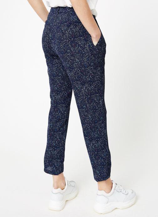 Vêtements IKKS Women Pan Imp Bleu vue portées chaussures