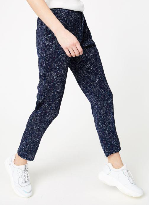 Vêtements IKKS Women Pan Imp Bleu vue détail/paire