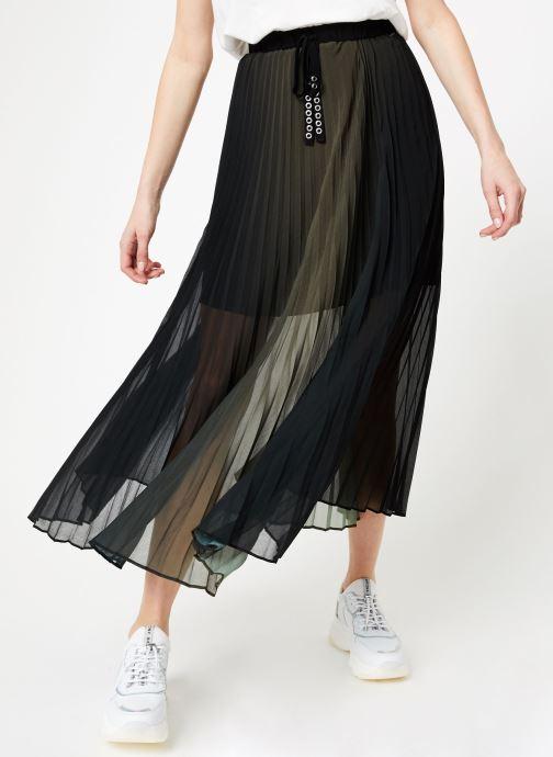 Vêtements IKKS Women Jup Lon Plissee Vert vue détail/paire