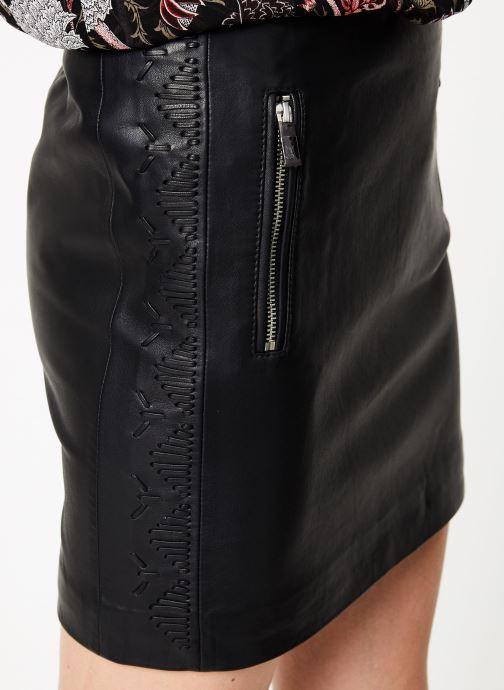 Vêtements IKKS Women Jup Cuir Noir vue face
