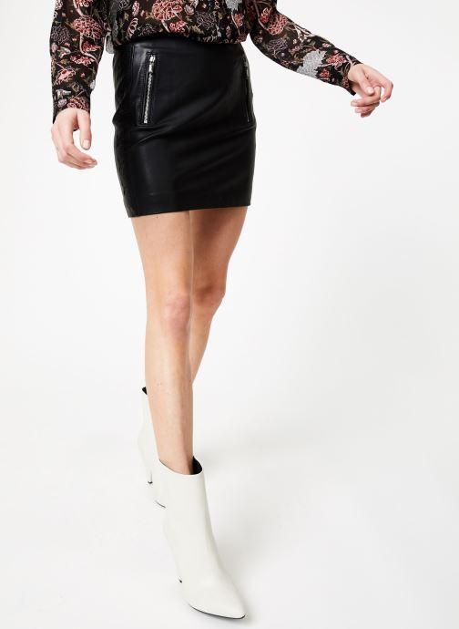 Vêtements IKKS Women Jup Cuir Noir vue détail/paire