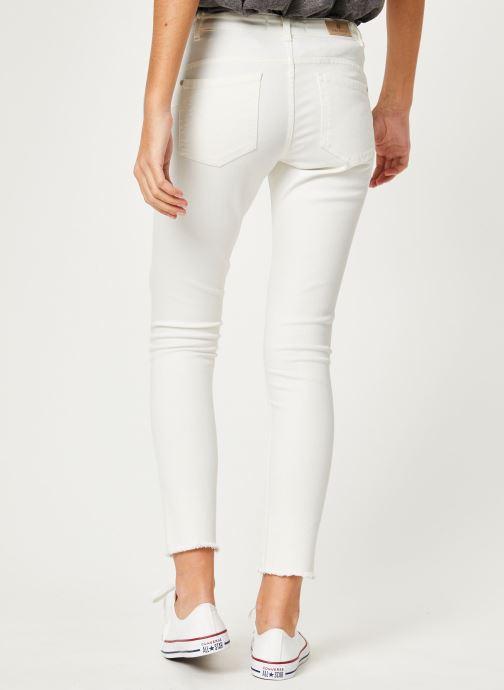 Vêtements IKKS Women Den Slim Scu Up Blanc vue portées chaussures
