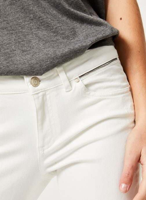 Vêtements IKKS Women Den Slim Scu Up Blanc vue face