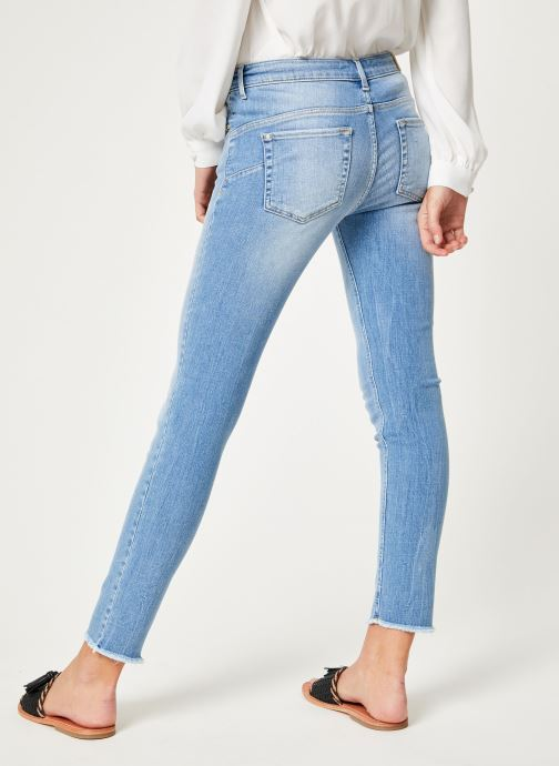 Vêtements IKKS Women Den Slim Scu Up Bleu vue portées chaussures