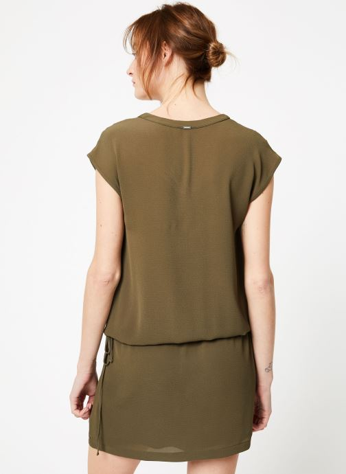 Vêtements IKKS Women 1 Rob Mc Polycr Vert vue portées chaussures