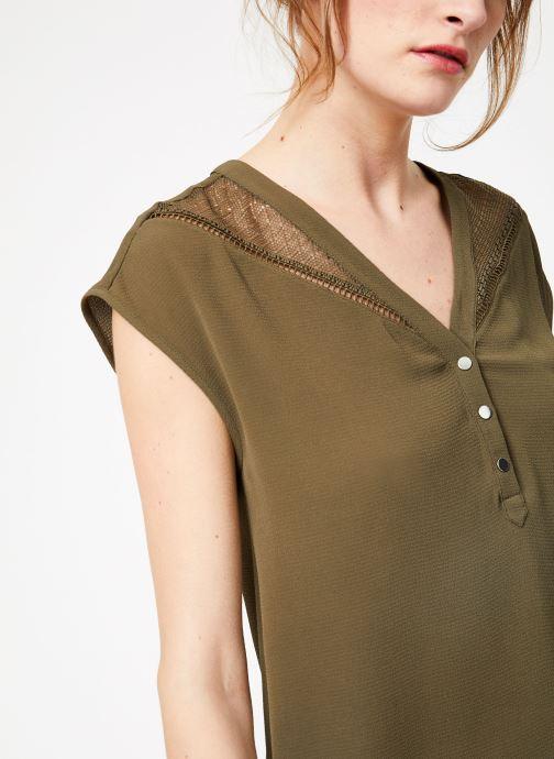 Vêtements IKKS Women 1 Rob Mc Polycr Vert vue face