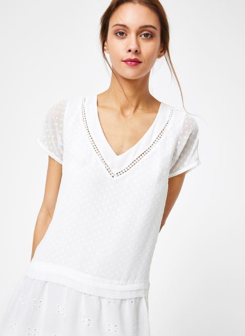 Vêtements IKKS Women Rob Mc Blanc vue détail/paire