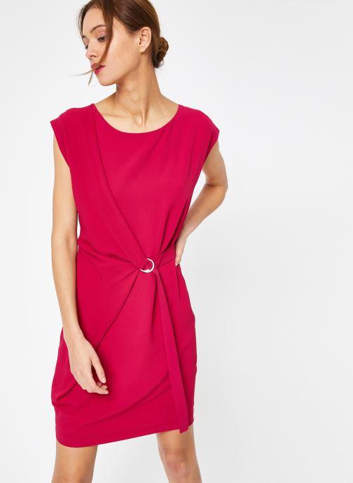 Vêtements IKKS Women Rob Sm Polycrep Rose vue droite