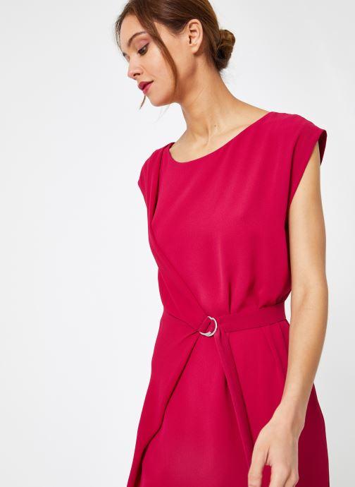 Vêtements IKKS Women Rob Sm Polycrep Rose vue détail/paire