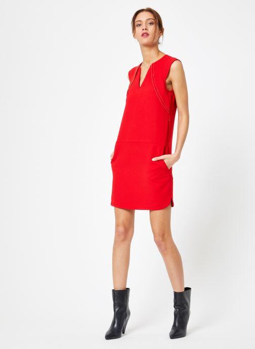 Vêtements IKKS Women Rob Sm Volant Rouge vue bas / vue portée sac