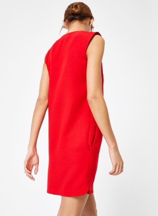 Vêtements IKKS Women Rob Sm Volant Rouge vue portées chaussures