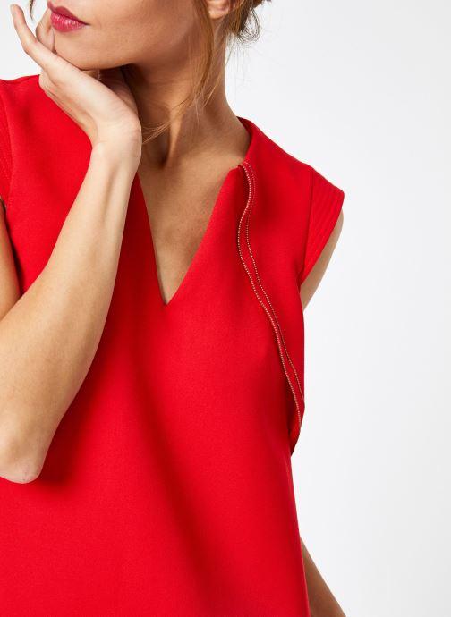 Vêtements IKKS Women Rob Sm Volant Rouge vue face