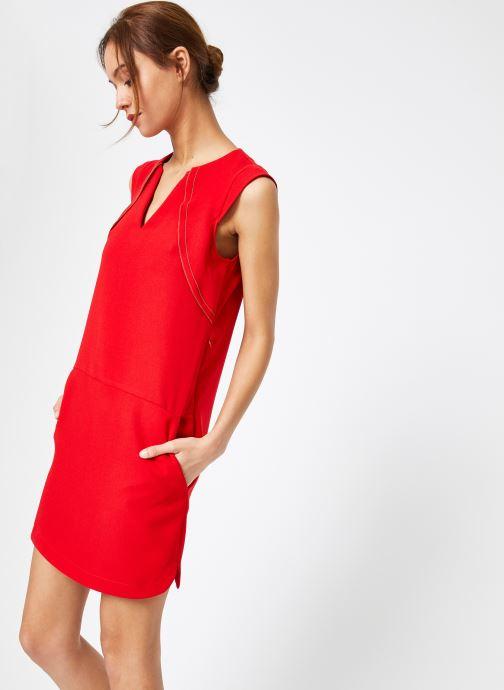 Vêtements IKKS Women Rob Sm Volant Rouge vue droite
