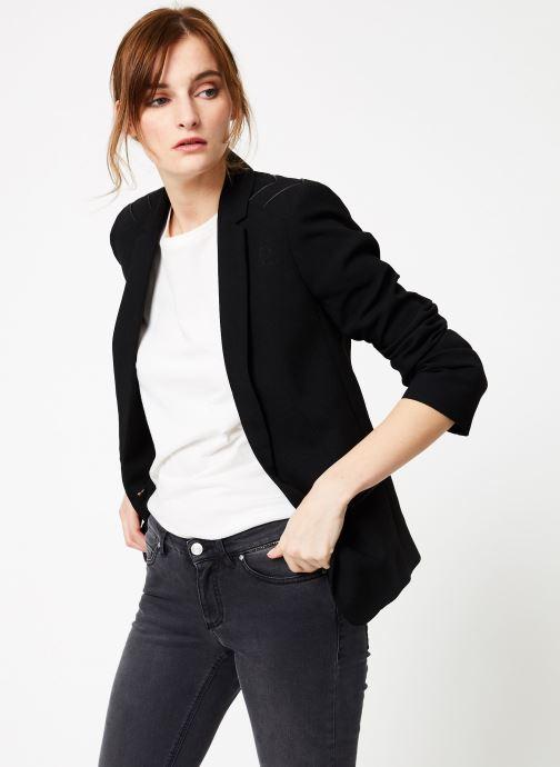 Vêtements IKKS Women Ves Crepe Epaul Noir vue droite