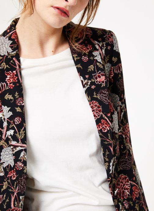 Vêtements IKKS Women Vest Imp Pivoin Noir vue face