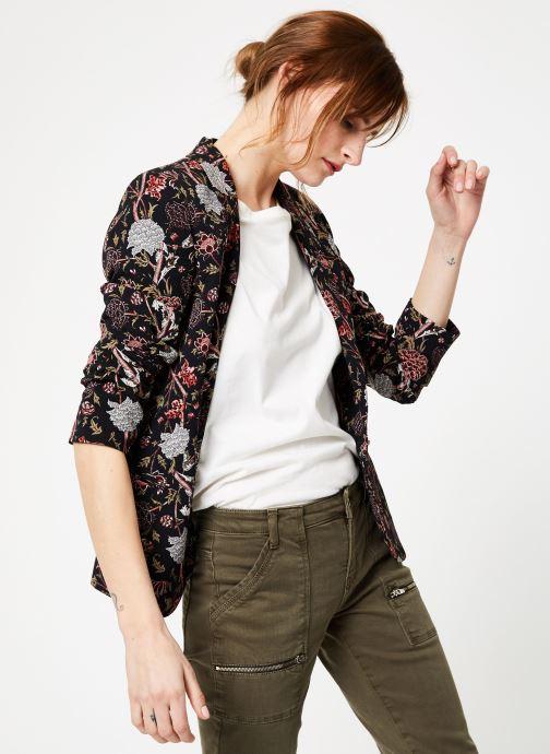 Vêtements IKKS Women Vest Imp Pivoin Noir vue droite