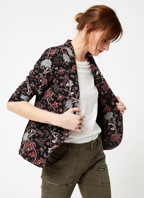 Vêtements IKKS Women Vest Imp Pivoin Noir vue détail/paire