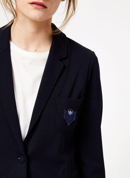 Vêtements IKKS Women Ves Bleu vue face