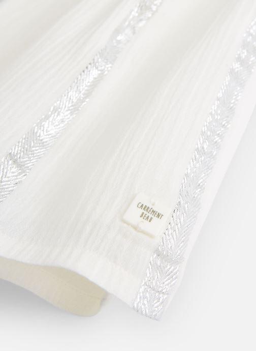 Vêtements CARREMENT BEAU Y12167 Blanc vue portées chaussures