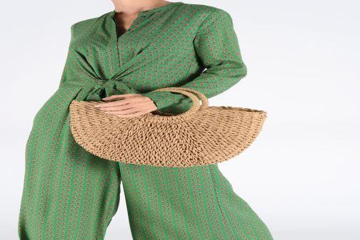 Sacs à main Pieces Eartha Tote Bag Beige vue bas / vue portée sac