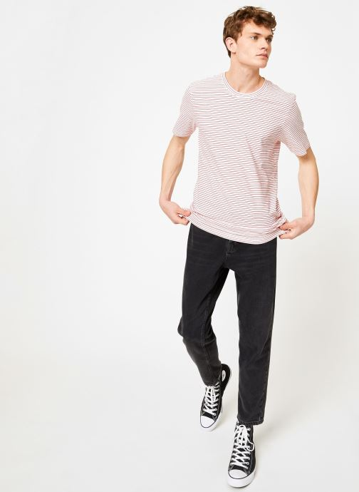Vêtements Hymn London  T-shirt Marinière MIDLANE Rose vue bas / vue portée sac