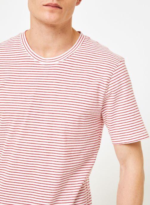 Vêtements Hymn London  T-shirt Marinière MIDLANE Rose vue face