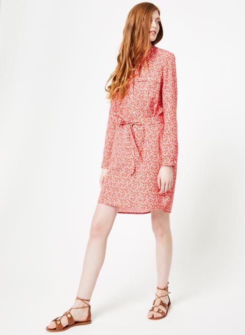 Vêtements Cuisse de Grenouille DRESS - OVERSIZE SHIRT DRESS Rouge vue bas / vue portée sac