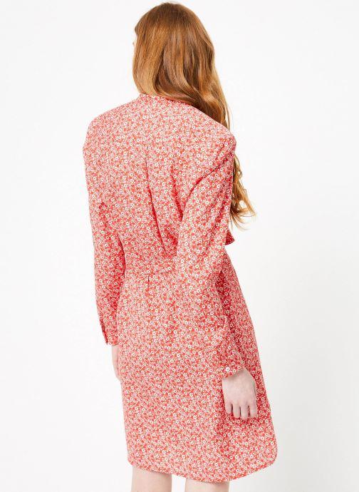 Vêtements Cuisse de Grenouille DRESS - OVERSIZE SHIRT DRESS Rouge vue portées chaussures