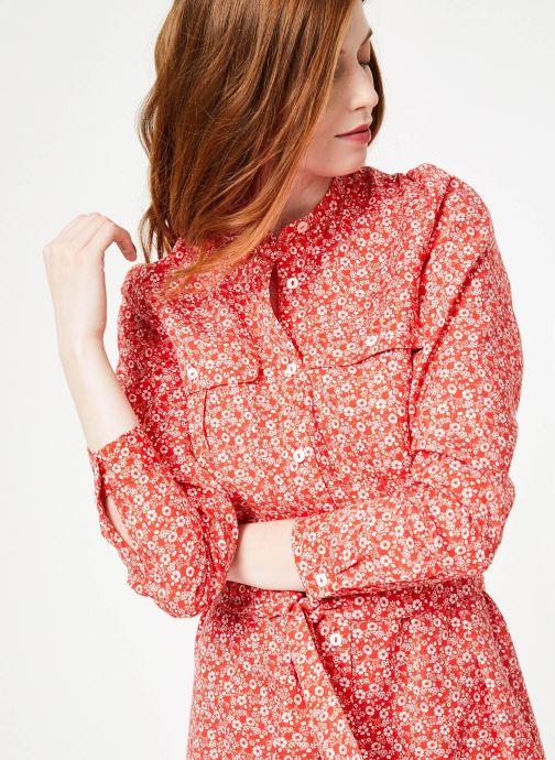 Vêtements Cuisse de Grenouille DRESS - OVERSIZE SHIRT DRESS Rouge vue détail/paire