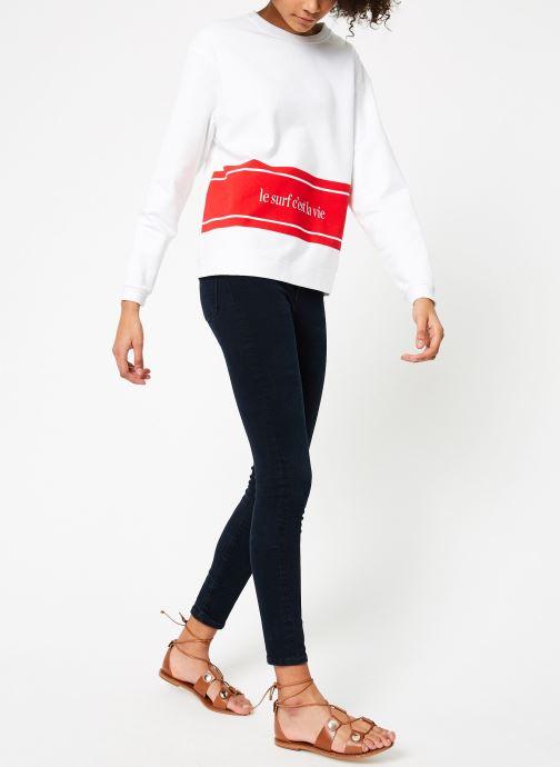 Vêtements Cuisse de Grenouille SWEAT - LE SURF C'EST LA VIE PRINT Multicolore vue bas / vue portée sac