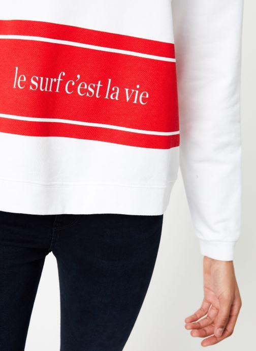 Vêtements Cuisse de Grenouille SWEAT - LE SURF C'EST LA VIE PRINT Multicolore vue face