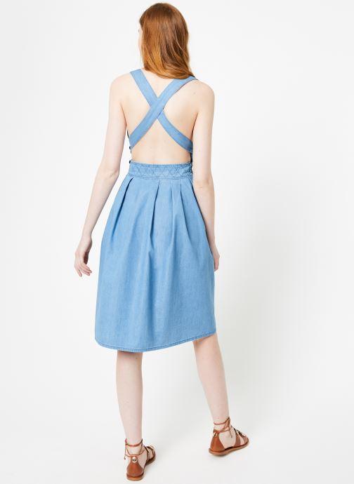 Vêtements Cuisse de Grenouille DRESS - APRON DRESS Bleu vue portées chaussures