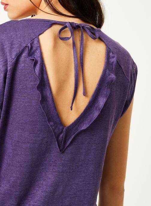 Women R Violet Ikks Clair Vêtements Volant Lin Ts uTF5lK1c3J