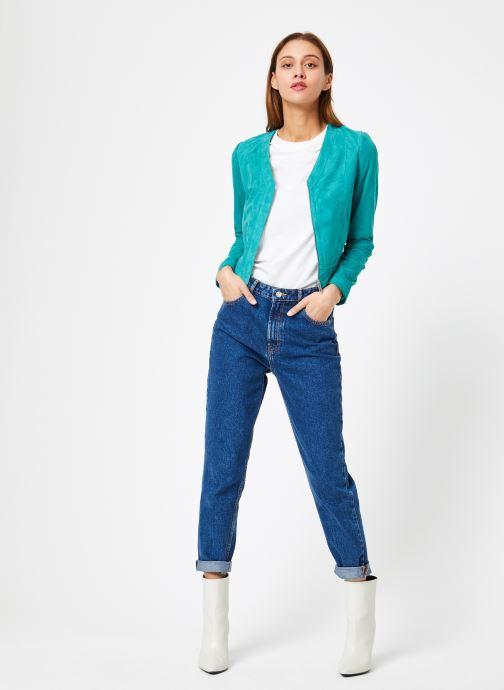 Vêtements IKKS Women W BLO CUIR Vert vue bas / vue portée sac