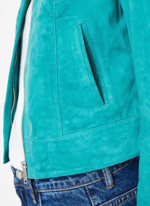 Vêtements IKKS Women W BLO CUIR Vert vue face