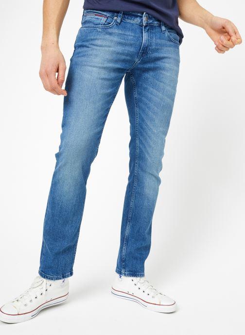Tøj Tommy Jeans SLIM SCANTON BEMB Blå detaljeret billede af skoene