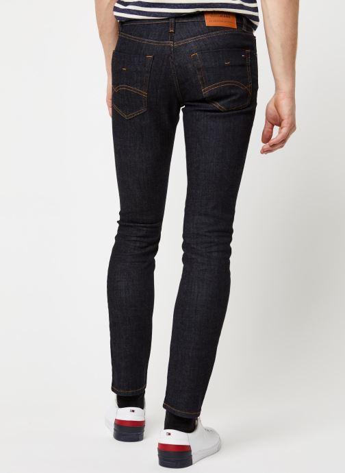 Vêtements Tommy Jeans SLIM SCANTON RINSC Bleu vue portées chaussures