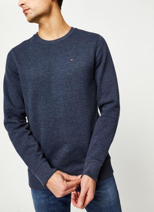 Vêtements Tommy Jeans TJM ORIGINAL SWEATSHIRT Bleu vue droite