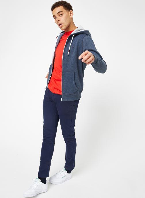 Vêtements Tommy Jeans TJM ORIGINAL ZIP HOODIE Bleu vue bas / vue portée sac