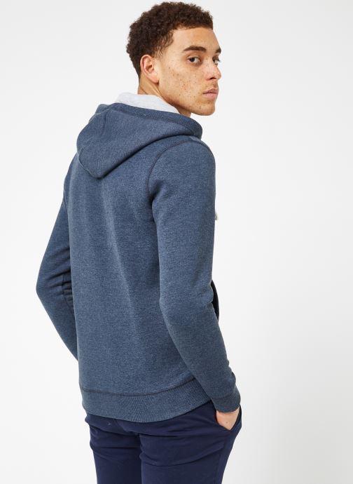 Vêtements Tommy Jeans TJM ORIGINAL ZIP HOODIE Bleu vue portées chaussures