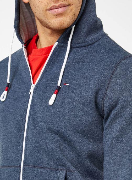 Vêtements Tommy Jeans TJM ORIGINAL ZIP HOODIE Bleu vue face