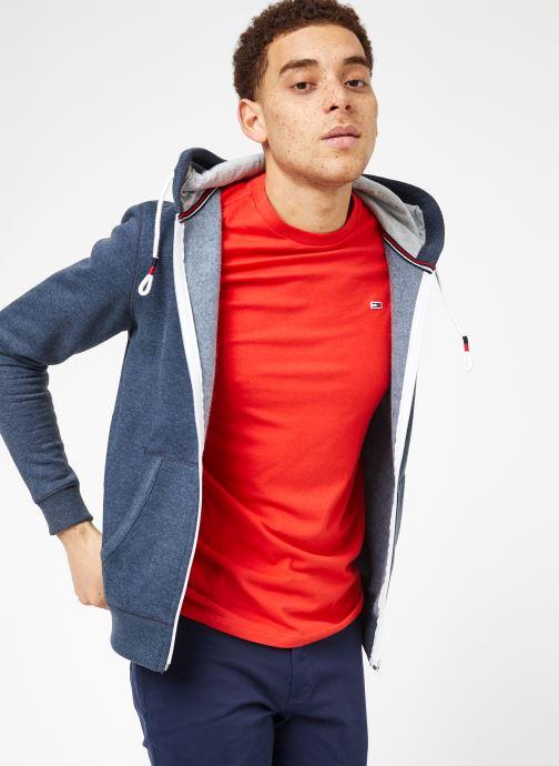 Vêtements Tommy Jeans TJM ORIGINAL ZIP HOODIE Bleu vue droite