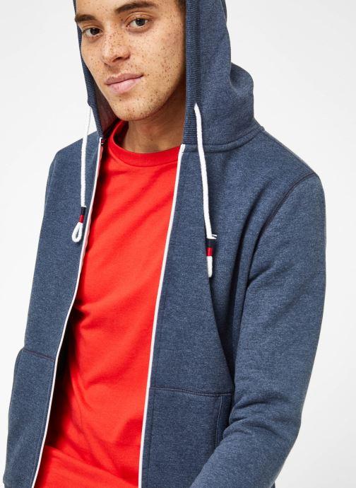 Vêtements Tommy Jeans TJM ORIGINAL ZIP HOODIE Bleu vue détail/paire