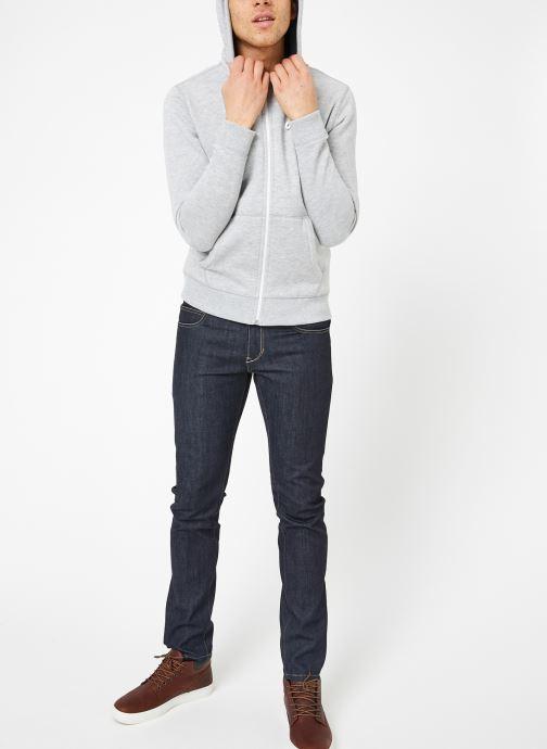 Vêtements Tommy Jeans TJM ORIGINAL ZIP HOODIE Gris vue bas / vue portée sac