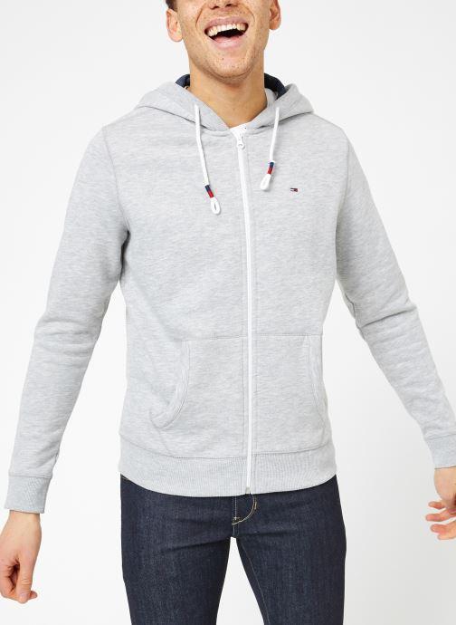 Vêtements Tommy Jeans TJM ORIGINAL ZIP HOODIE Gris vue droite