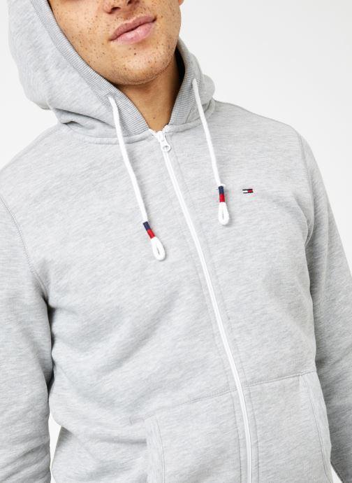 Vêtements Tommy Jeans TJM ORIGINAL ZIP HOODIE Gris vue détail/paire