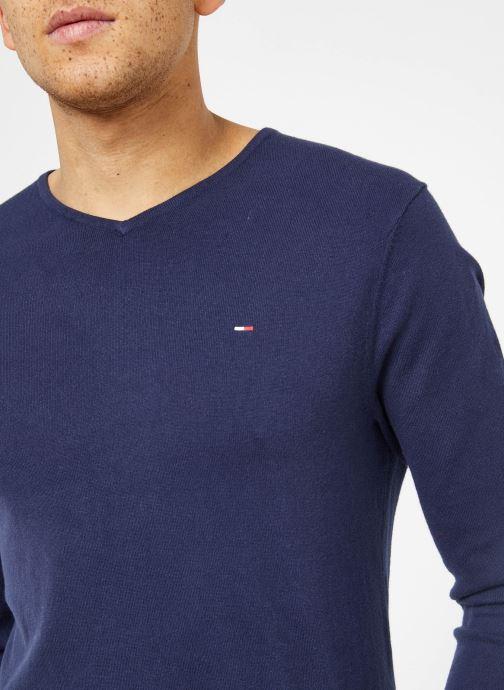 Vêtements Tommy Jeans TJM ORIGINAL V NECK SWEATER Bleu vue face