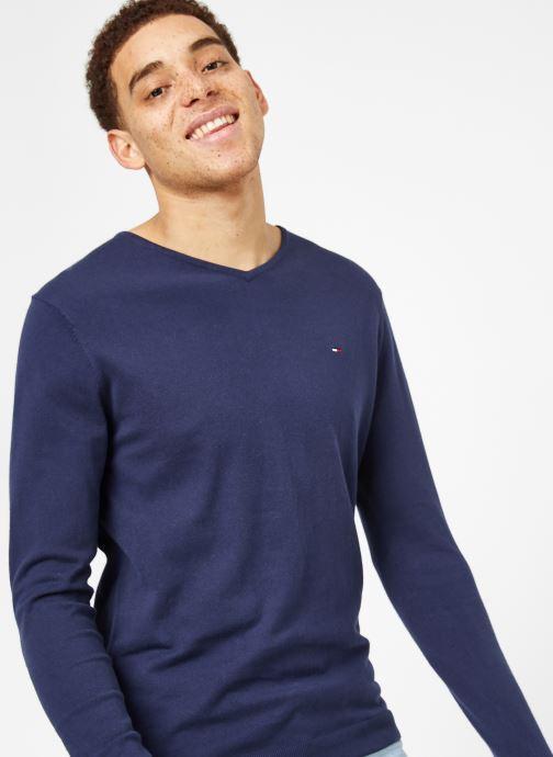 Vêtements Tommy Jeans TJM ORIGINAL V NECK SWEATER Bleu vue détail/paire