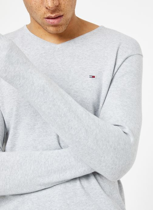 Vêtements Tommy Jeans TJM ORIGINAL V NECK SWEATER Gris vue face