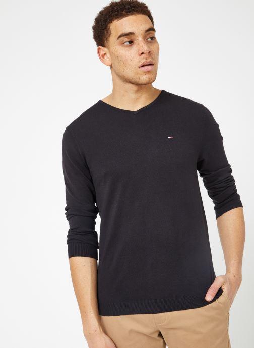 Vêtements Tommy Jeans TJM ORIGINAL V NECK SWEATER Noir vue détail/paire